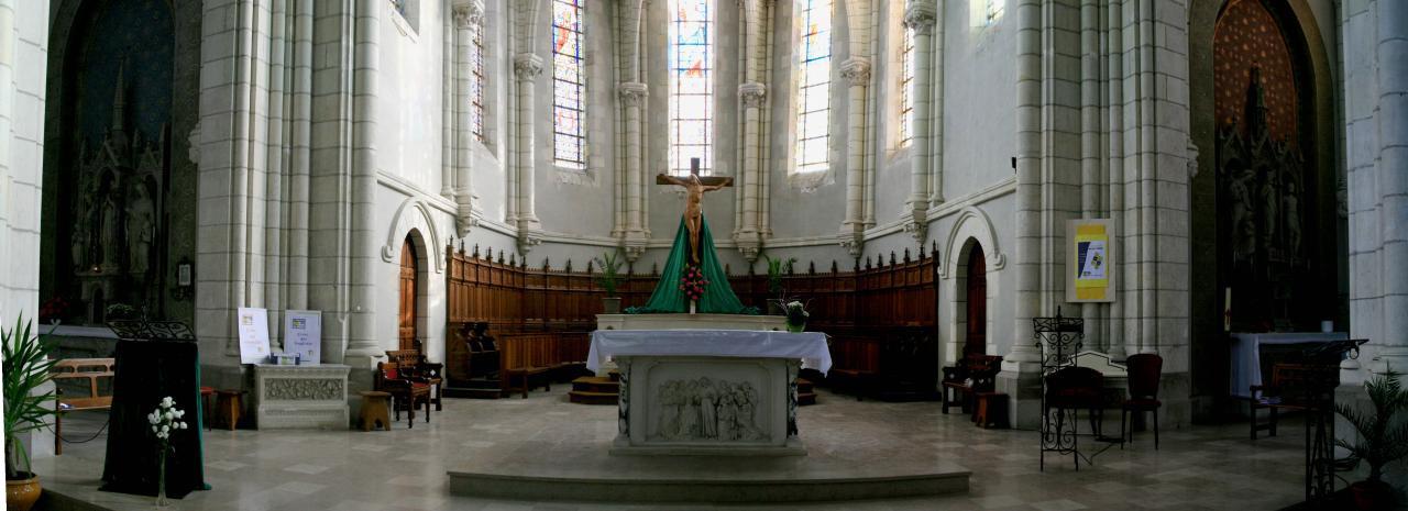 Panoramique choeur église Paulx 44270