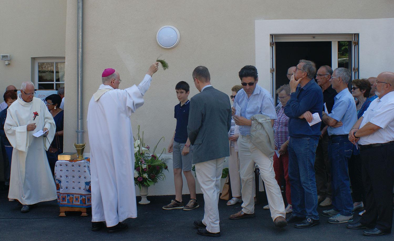 A Machecoul, Bénédiction de l'Accueil Paroissial Sainte Croix en Retz, le 9 juin 2018