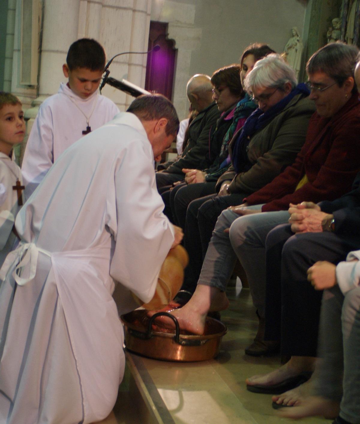 Lavement des pieds le Jeudi Saint à Paulx