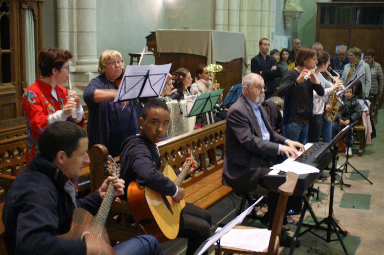 Musiciens Jeudi Saint à Paulx