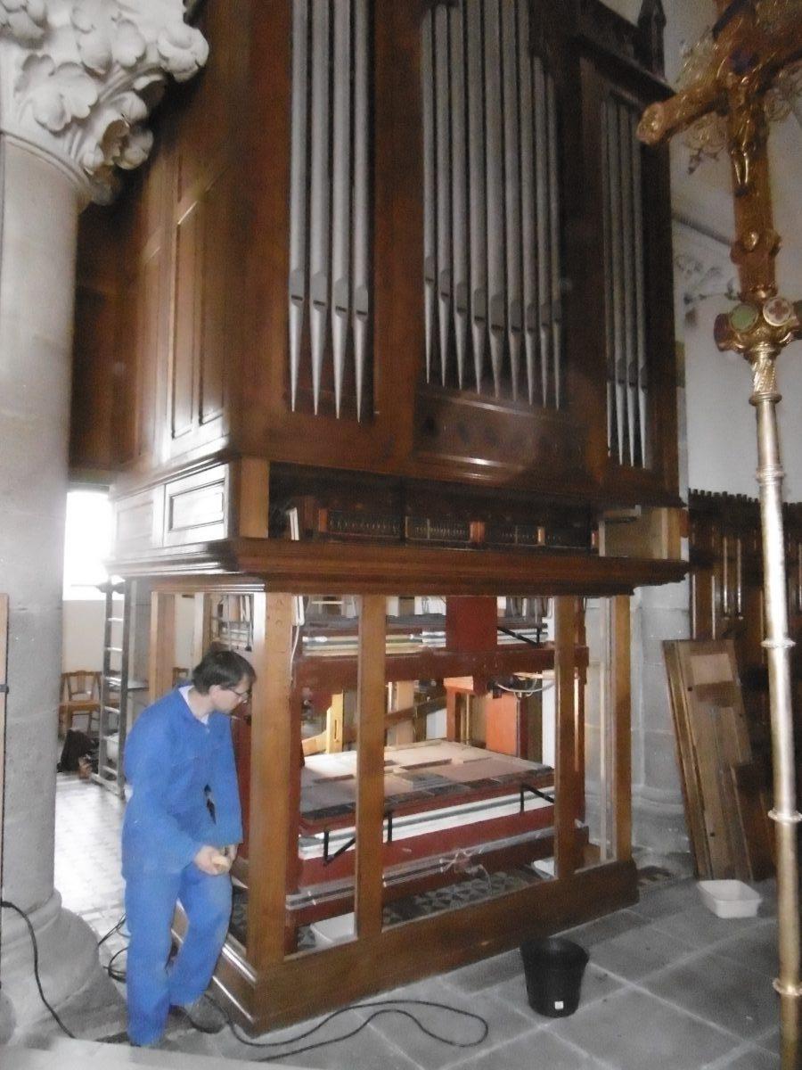 Remise en état orgue Bourgneuf en Retz